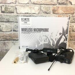 Микрофоны - Петличная радиосистема с двумя микрофонами для интервью Forte CM2, 0