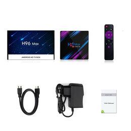 ТВ-приставки и медиаплееры - Smart TV приставка H96 Max 4K Android 10.0, 0