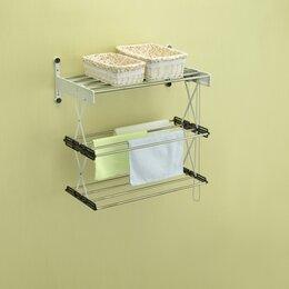 Сушилки для белья - Трехуровневая сушилка для белья на стену Веллекс…, 0