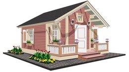 Готовые строения - Дачный домик  TEREMDOM №11, 0