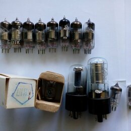 Радиодетали и электронные компоненты - Радиолампы 6жзп 6К1П сг4С 6Н8С 6С1П 6Х2П, 0