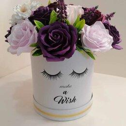 Искусственные растения - Букет роз из мыла в шляпной коробке, 0