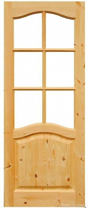 """Дверь филенчатая """"Каролина"""" под стекло 80 х 2м по цене 5300₽ - Межкомнатные двери, фото 0"""