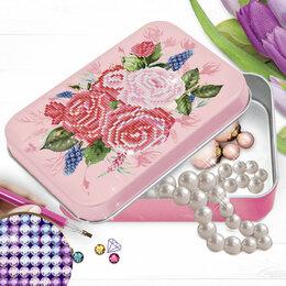 """Рукоделие, поделки и сопутствующие товары - Алмазная вышивка на шкатулке """"Букет роз"""" 22,8*15,8 см, 0"""