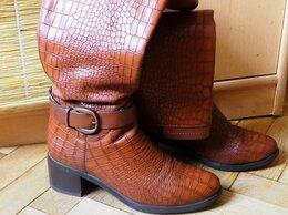 Сапоги - Сапоги женские низкий каблук, 0