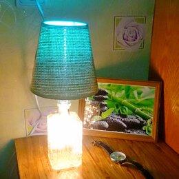 Настольные лампы и светильники - Лампа настольная из винтажной бутылки, 0