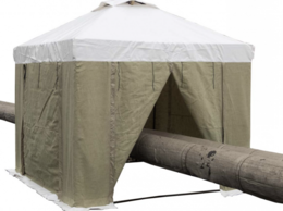 Тенты строительные - Палатка сварщика 3,0х3,0 (ПВХ+Брезент), 0