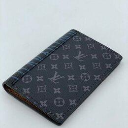Визитницы и кредитницы - Визитница Louis Vuitton кожаная мужская/женская серая новая, 0