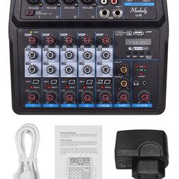 Микшерные пульты - USB микшер Muslady U6 6 каналов со звуковой картой, 0