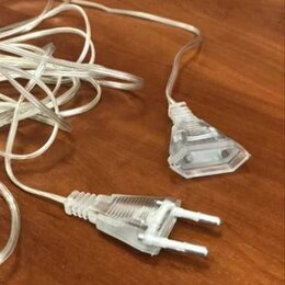 Новогодний декор и аксессуары - Удлинитель сетевого кабеля для гирлянд, длина 5 м, 0