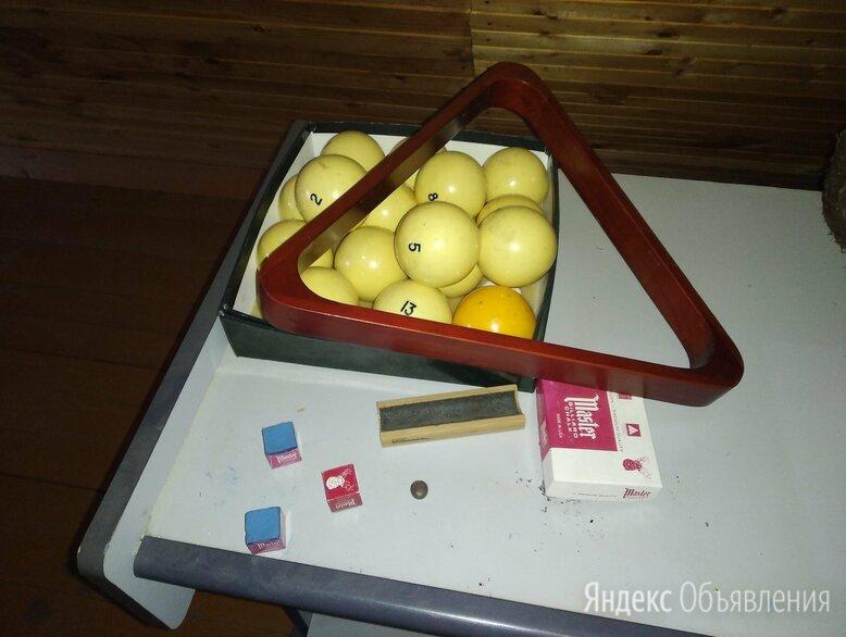 биллиардный стол 9 футов, кии, большие и маленькие шары по цене 20000₽ - Столы, фото 0