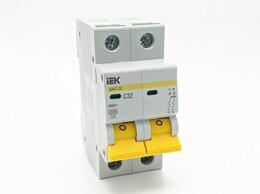 Электрические щиты и комплектующие - Автомат пакетный IEK 2Р C 16А, 0