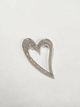 Кулоны и подвески - Подвеска золото 585 с бриллиантами 7.5гр, 0