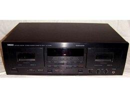 Музыкальные центры,  магнитофоны, магнитолы - Дека Yamaha KX-W492 двухкассетная, 0
