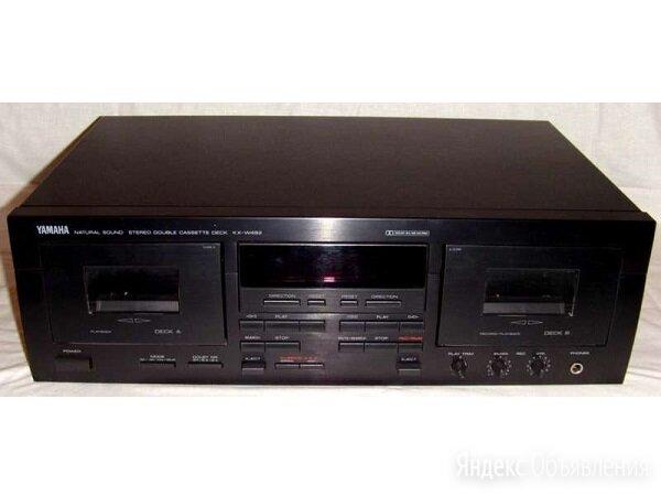 Дека Yamaha KX-W492 двухкассетная по цене 36000₽ - Музыкальные центры,  магнитофоны, магнитолы, фото 0