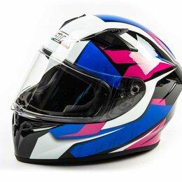 Мотоэкипировка - Шлем мото интеграл GTX 578 (M) #3 BLACK/PINK BLUE WHITE, 0