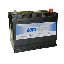 Аккумуляторы и комплектующие - Аккумулятор автомобильный Autopower A68J 68Ач 550А Обратная полярность, 0