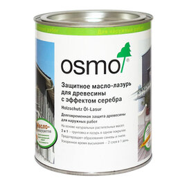 Масла и воск - 1142 Графит серебро 0,75л Защитное масло-лазурь, 0