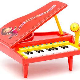 Детские музыкальные инструменты - Электропианино Маша и медведь, 0
