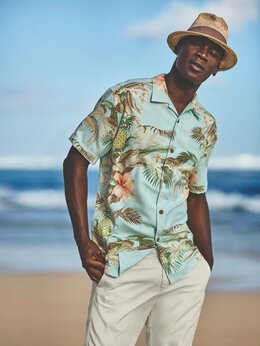 Рубашки - Рубашки гавайки Tommy Bahama XL шелк, 0