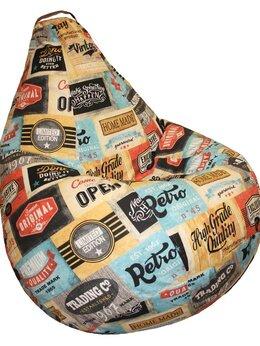 Кресла-мешки - Кресло мешок XL жаккард Лейбл (130х90 см), 0