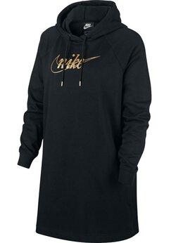 Платья - Платье NIKE fw W Nsw Flc Glitter Black/Gold ж., 0