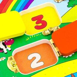 Развивающие игрушки - Развивающий Бизиборд Учим цифры и цвета, 0