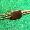 Зажим для галстука, камень Раух-Топаз натуральный, природный, СССР по цене 3000₽ - Запонки и зажимы, фото 0