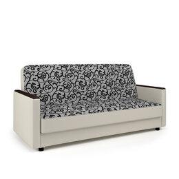 Диваны и кушетки - Диван-кровать «Классика Д» узоры и экокожа беж, 0