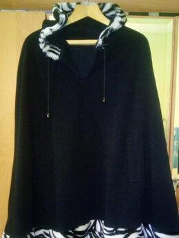 Пальто - Пончо с капюшоном (демисезон), 0
