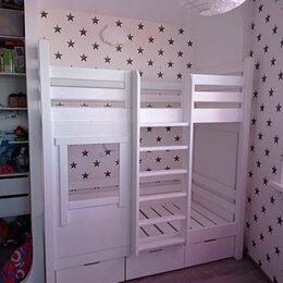 Кроватки - Двухъярусная кроватка с окошком, 0