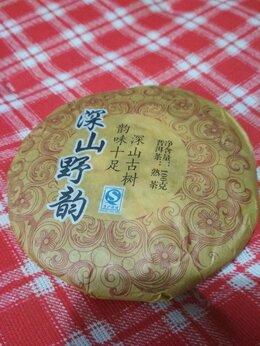Продукты - Чай пуэр китайский чёрный 2015 года 100 гр, 0