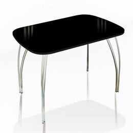 Столы и столики - Стол обеденный со стеклом Агат (Лакобель), 0