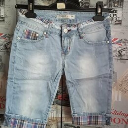 Капри и бриджи - Шорты-бриджи джинсовые р.40, 0