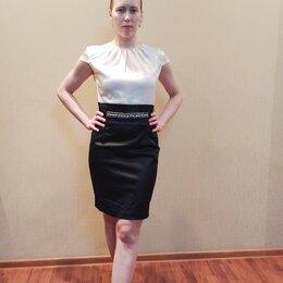 Платья - Черно-белое платье футляр, 0