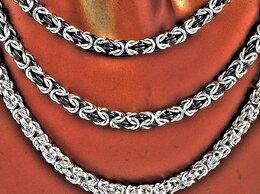 Цепи - Колье-цепочки серебряные, родированные и…, 0