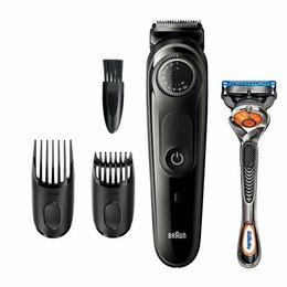 Машинки для стрижки и триммеры - Триммер для бороды Braun BT3242 + Бритва Gillette, 0