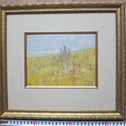 Картины, постеры, гобелены, панно - картина Лето в степи,картон,масло, 0