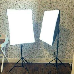 Фотовспышки - Два софтбокса на 4 лампы каждый 50х70, 0