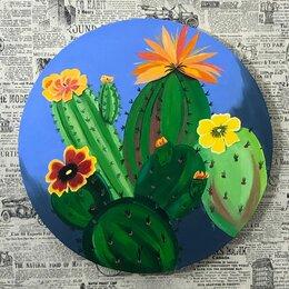 Картины, постеры, гобелены, панно - Наивные кактусы, 0