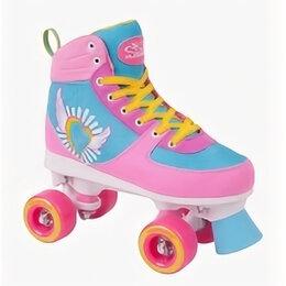Обувь для спорта - Ролики-квады HUDORA Skate Wonders р.35/36 (розово-голубые), 0