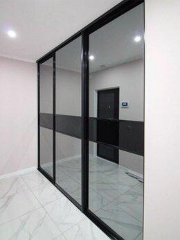 Шкафы, стенки, гарнитуры - Двери-купе. Зеркало графит. Стекло черное, 0