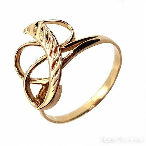 золотое кольцо с алмазной гранью по цене 13650₽ - Кольца и перстни, фото 0