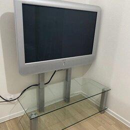 Телевизоры - Большой телевизор на стеклянной тумбе , 0