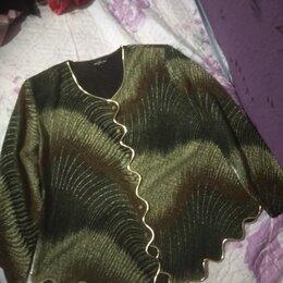 Блузки и кофточки - блузка с золотистой отделкой, 0