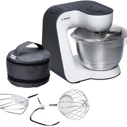 Кухонные комбайны и измельчители - Кухонный комбайн Bosch MUM54A00 900Вт серый/белый, 0