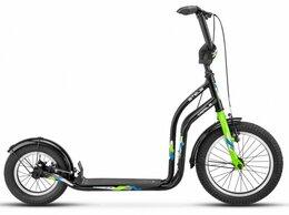 """Велосипеды - Футбайк STELS Trail-5 16""""/12"""" V010 черный/зеленый, 0"""