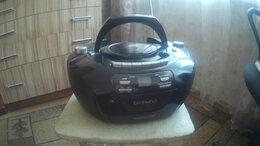 Музыкальные центры,  магнитофоны, магнитолы - Кассетный магнитофон с проигрывателем CD-дисков., 0
