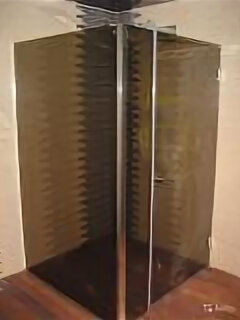 Души и душевые кабины - Душевой уголок Г-образной формы из триплекса, 0