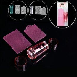 Аксессуары и комплектующие - Набор для стемпинга с двусторонним штампом, 3 предмета, цвет МИКС, 0